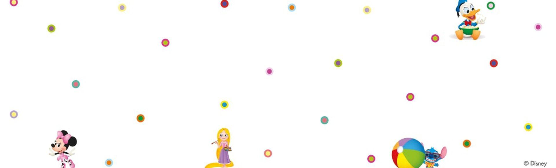 Stitch, Minnie Mouse, Donald e Rapunzel