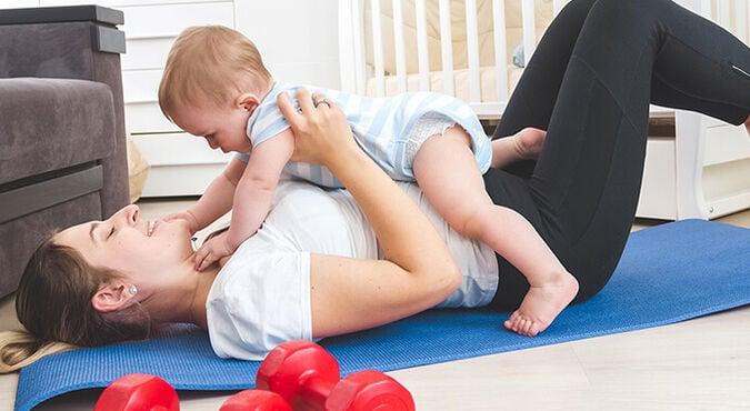 Exercícios com bebês em casa