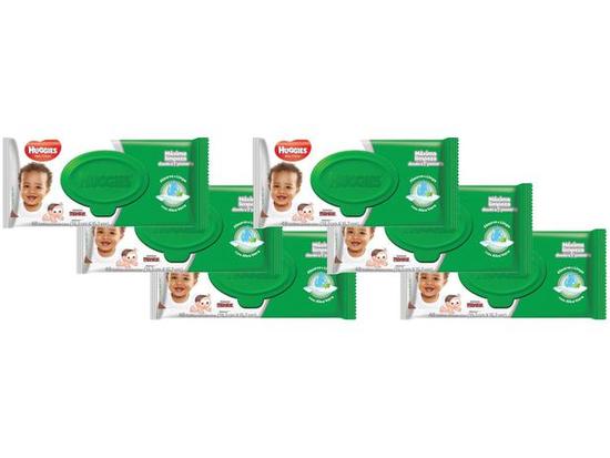 Kit Lenços Umedecidos Wipes Max Clean - 6 pacotes 288 lenços