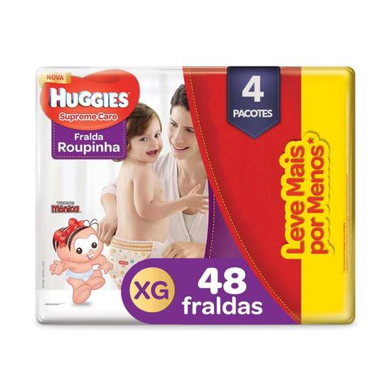 4 Fraldas Supreme Care Roupinha XG