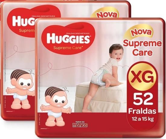 2 Fraldas Supreme Care Aberta Hiper XG