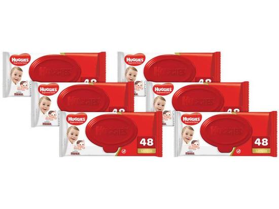 Kit Lenços Umedecidos Wipes Supreme Care - 6 pacotes 288 lenços