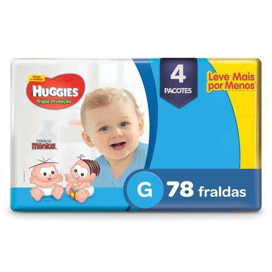 4 Fraldas Tripla Proteção Hiper G