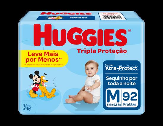 FRALDA TRIPLA PROTEÇÃO M - 92 uni