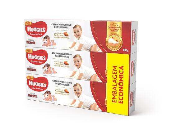 Creme de assaduras Huggies Supreme Care pacote com 3