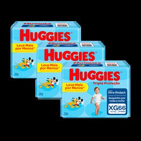 3 Fraldas Tripla Proteção Hiper XG