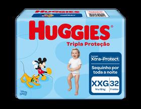 Fralda Tripla Proteção Mega XXG - 32 unidades