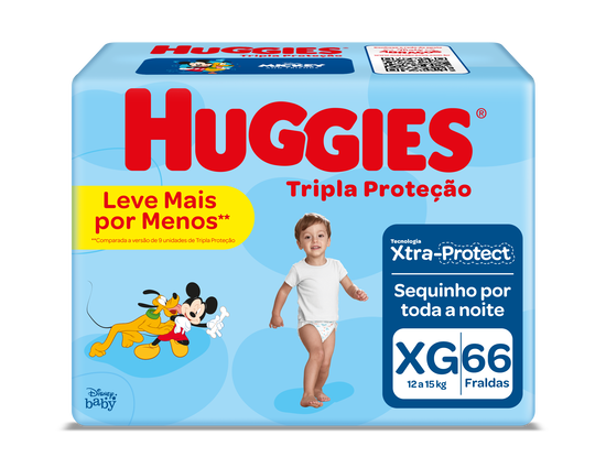 FRALDA TRIPLA PROTEÇÃO XG - 66 uni