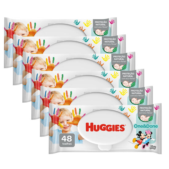 Kit Lenços Umedecidos Wipes One & Done - 6 pacotes 288 lenços