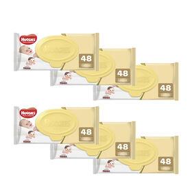 Kit Lenços Umedecidos Wipes Puro e Natural - 6 pacotes 288 lenços